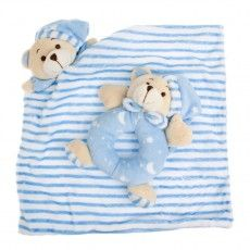Koch Sleepytime Rattle and Bear Blankets are the perfect gift for any newborn. Soft and easy to hold, they provide comfort while developing fine motor skills and stimulating the senses of sight, touch and hearing. Price: $12.00 http://premmieto2.com.au/product/koch-teddy-bear-sleepytime-rattle-bear-blanket-newborn-toys-blue/