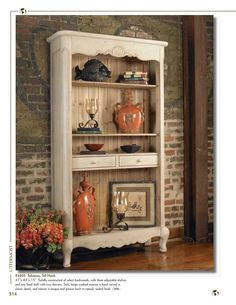 Uttermost tall hutch! Love the wall also.