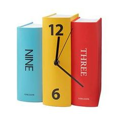 A clever timepiece that fits in their bookshelf! Great gift for the bookie.