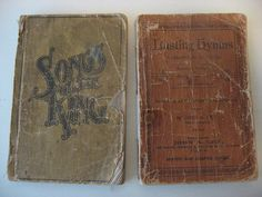 vintage hymns books
