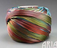 SHIBORI SILK RIBBON: 4 Pleated to 1 Wide Silk by AriaDesignStudio