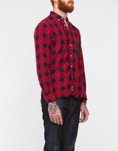 Indigo Flannel Dot