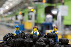Guiness World Record fact: LEGO Group is the largest tire manufacturer. With nearly half of all LEGO sets featuring tires, LEGO factories must produce the pieces 24 hours a day, 365 days a year leading to a daily production of 870,000 units and more than 318 million pieces annually.