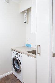 Laundry Sally Steer Design Ltd. Laundry Design, Washing Machine, Home Appliances, Sally, Apartments, Ideas, House Appliances, Appliances, Thoughts