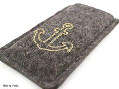 Filzhülle für #iPhone 5 / 5s / 5c goldener Anker