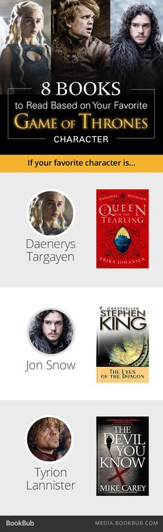 Game of Thrones fans: Check out this list of books to read based on your favorite character!