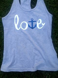 Anchor Love racerback Women's Tank Top @Kayla Cavanagh this is gunna be your bday gift since we both love anchors!