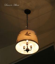 transforming old brass light fixture