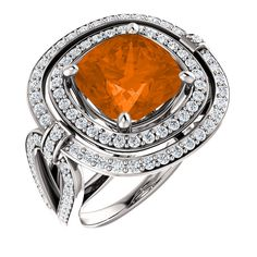 Poppy Topaz and Diamond Ring, 14kt white, designed using Choose/Change/Create®. Find it at a jeweler near you: www.stuller.com/locateajeweler
