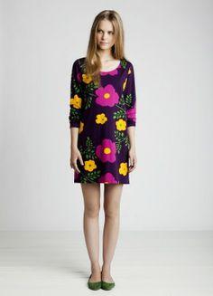 Marimekko tunic by Mika Piirainen, pattern by Maija & Kristina Isola Marimekko Dress, Cute Dresses, Summer Dresses, Russian Fashion, Dress Me Up, Ready To Wear, Cold Shoulder Dress, Women Wear, Vintage Fashion