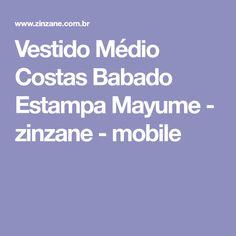 Vestido Médio Costas Babado Estampa Mayume - zinzane - mobile