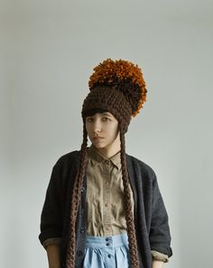 "I Like Giants Puffy Pom Pom Hat by Yokoo on Etsy, $65.00  ""one of my fave knit designers"""