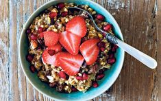 A quick recipe to prepare – it takes just three or four minutes to throw   together – and you can mix two or three portions at once so that you're   prepared for every morning