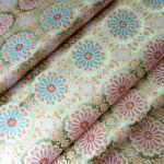弊社に伝わる伝統的な「唐花紋様」の配色を変えてよりビビッドにしました。 #design #flower #trad #西陣織 #kyoto #japan #silk #絹 #正倉院 #vivid http://okamotoorimono.com/kinranproducts/karahana/