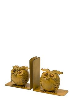 """Viola Owl Bookends - Set of 2 by IMAX Accent your literary collection with these unique bookends. - Set of 2 - 6.00"""" H x 6.00"""" W x 4.00"""" D - Imported $45.00"""
