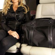 Blue Claw's Worton Weekender bag. Black Leather.