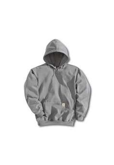 Carhartt Mens K121 Midweight Hooded Pullover Sweatshirt - Heather Grey | Buy Now at camouflage.ca