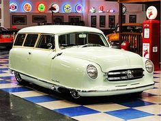 1952 nash rambler..the back seat folded down into a bed..