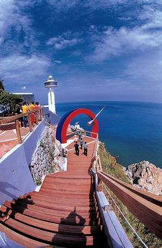 lighthouse! Busan, South Korea: Canyon's first lighthouse will be in South Korea. He's been asking to see one!