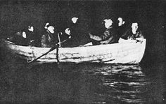 Jews from Denmark being rowed across the Sound to Sweden in October 1943. In this unique rescue operation, the Danish resistance movement secretly evacuated almost the entire Jewish population of Denmark, more than 7,000 people, across the sea to neutral Sweden.