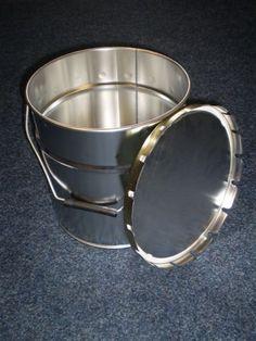 Plechové vedro s drôteným držadlom + nasadzovacie veko 10 L (1-11 ks) Household, Bucket, Buckets, Aquarius