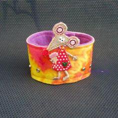 mouse and her ice cream felt bracelet $10