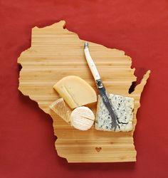 AHeirloom's Wisconsin State Shaped Cutting Board by AHeirloom, $48.00