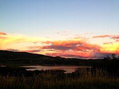 Evening sky. The Jordanelle Reservoir, Park City, Utah.