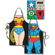 Superhero aprons, $24.95