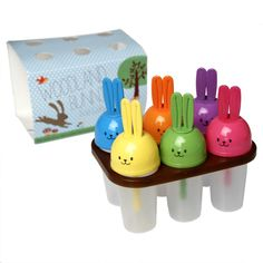dotcomgiftshop SET OF 6 WOODLAND BUNNIES ICE LOLLY MOULDS. CUTE BUNNY GIFT