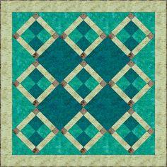 Batik Nine-Patch Quilt Block Pattern