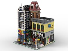 Dream Ice Cream, Ice Cream Parlor, Ice Cream Maker, Lego Christmas Sets, Lego Modular, Futuristic City, Gumball Machine, Lego House, Lego Projects