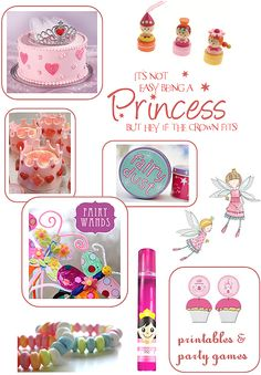 Theme it ... fairy princess! A round-up of fairy / princess themed party games, baking, activities, printables and more from MessPots
