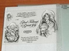 CTMH C1562 MARY & BABE ~For unto you is born...,And this shall be a sign...,STAR #CloseToMyHeart Close To My Heart, Babe, Stamp, Signs, Cards, Stamps, Shop Signs, Maps, Playing Cards