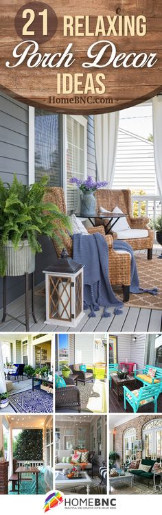 21 Relaxing Porch Design and Decor Ideas for the Perfect Getaway Spot - Homebnc.site - Beautiful and Creative Home Design and Decor Ideas Summer Front Porches, Small Porches, Summer Porch, Decks And Porches, Veranda Design, Patio Design, Outdoor Living Rooms, Outdoor Spaces, Porch Decorating