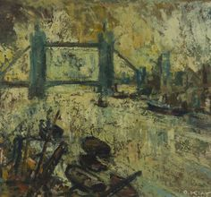 Otto Klar (1908-1994) 'Tower Bridge, London', 1952