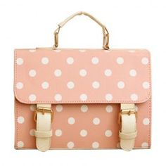 $8.60 Vintage Style Women's Shoulder Bag With Buckle and Polka Dot Design