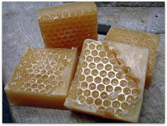 Handmade honeycomb soap honey milk oatmeal scent by Booth70, $6.95