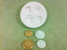 Decorative Buttons Silicone Mold for cake decorating by Susan Carberry. Great for Fondant, Chocolate, Gumpaste, Isomalt and more.