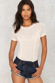 644016e9d3 Jordana Ribbed Bodysuit - Clothes