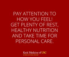 Make sure you set time aside to take care of yourself and listen to what your body is telling you!