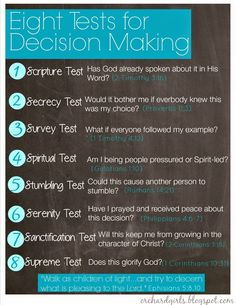 Orchard Girls: Eight Tests For Decision Making | Free Printable