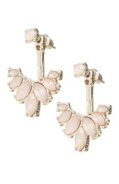 Primark - Pendientes rosas piedras de imitación