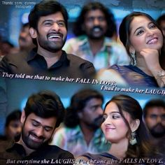 The real power of a man is in the size of the smile of the woman sitting next to him!! #prabhas #anushkashetty