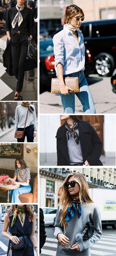 Inspiración pañuelos Neck scarves were a big trend on the catwalk both for this season & also Look Fashion, Winter Fashion, Womens Fashion, Fashion Trends, Paris Fashion, Looks Street Style, Looks Style, Casual Outfits, Cute Outfits
