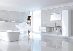 Duravit - Bathroom design series: PuraVida - washbasins, toilets, bidets, tubs, showers and bath furniture from Duravit.