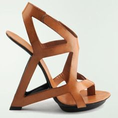 Wearable work of art: United Nude abstract wedge