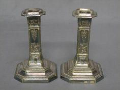 Victorian Shabbat Candlesticks