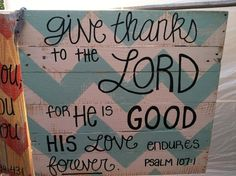 Pallet Art Bible Verse Series Give thanks to by HollysHobbiesTN
