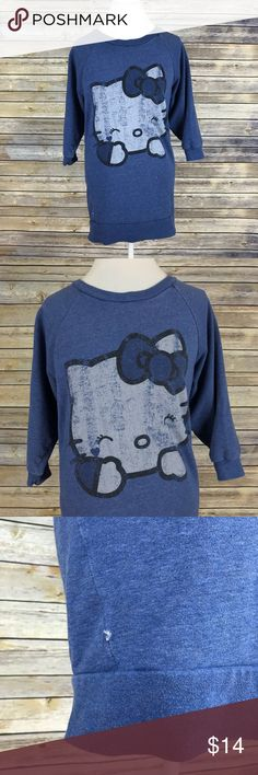 """H&M Oversized Hello Kitty Crewneck Sweatshirt - Divided by H&M - Women's size 2 - In good condition! - Pit to pit: 19.5"""" - Sleeve length: 17"""" - Body length: 29.5"""" H&M Sweaters"""